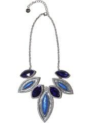 Dámský náhrdelník Q2 s modrými krystaly