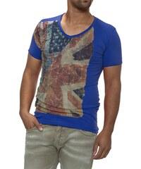 Pánské modré tričko CARISMA s vlajkou