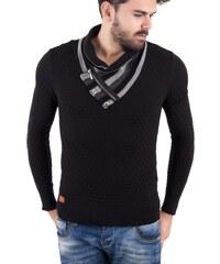 Pánský černý svetr REDBRIDGE se zipem