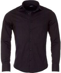 Pánská černá slim košile REROCK