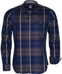 Pánská tmavě modrá kostkovaná košile LERROS