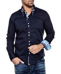 Pánská tmavě modrá košile CARISMA