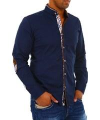 Pánská tmavě modrá košile CARISMA se stojáčkem