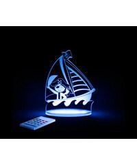 Aloka Noční světýlko Pirát + ovladač pro volbu barev