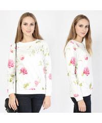 Lesara Oversize-Sweatshirt mit Blumen-Print - S