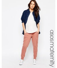 ASOS Maternity - Pantalon de jogging confort style sarouel - Rose