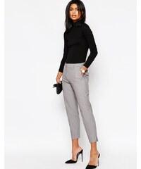 ASOS - Pantalon slim coupe courte - Gris