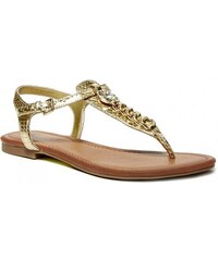 GUESS GUESS Sian T-Strap Sandals - gold multi leather