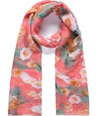 Šátek na krk INTRIGUE s květinami (1 ks skladem) rosa Dopravné zdarma!