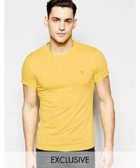 Farah - T-shirt ajusté avec logo F exclusivité ASOS - Orange