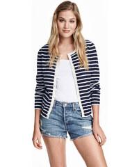 H&M Vzorovaný bavlněný svetr