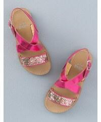 Glitzernde Sandalen Pink Mädchen Boden