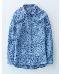 Das leichte Hemd Blau Damen Boden