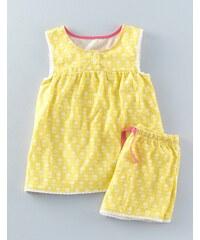 Sommerliches Pyjamaset Gelb Mädchen Boden
