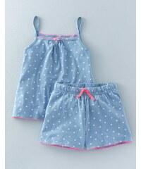 Jersey-Pyjamaset Blau Mädchen Boden