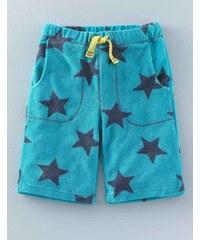 Frottee-Shorts Blau Jungen Boden