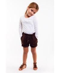 Bani Kids Dívčí šortky s páskem - hnědé