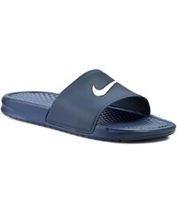 Pantoletten NIKE - Benassi Shower Slide 819024 410 Midnight Navy/White