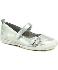 Dětská obuv Sprox 143991 stříbrné dívčí baleríny