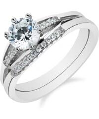 Meucci Skládací stříbrný prsten se zirkony