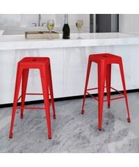 Bílé barové židle industrial Red (2ks)