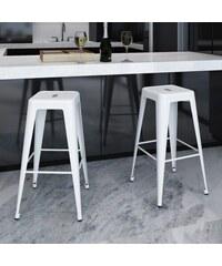 Bílé barové židle industrial White (2ks)