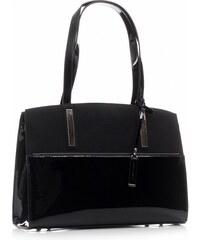 Dámská kabelka David Jones Klasická s leskem černá