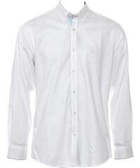 Pánská košile s dlouhými rukávy Contrast - Bílá a světle modrá S