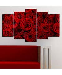 Lesara 5 Panneaux muraux avec rose