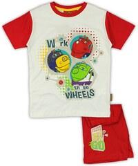 E plus M Chlapecké pyžamo Chuggington - červené