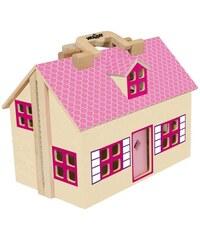 WOODY Domeček pro panenky / kufřík