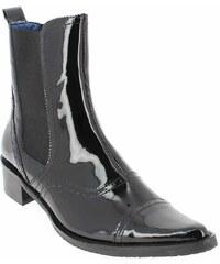 Boots Femme Costa Costa en Cuir vernis Noir