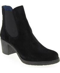 Boots Femme Costa Costa en Cuir velours Noir