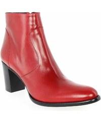 Boots Femme Janie Philip en Cuir Rouge