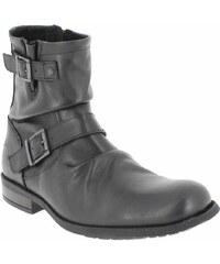 Boots Homme Base London en Cuir Noir