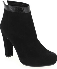 Boots Unisa WILSON Noir pour Femme en Cuir velours - Promo