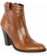 Boots Femme Janie Philip en Cuir Camel
