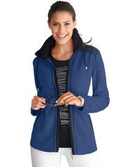 Fleecová bunda modrá/černá
