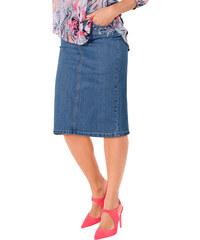 Džínová sukně sepraná modrá - Krátká délka (K)