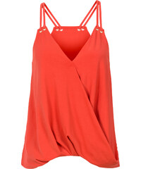 BODYFLIRT Top style cache-cœur orange sans manches femme - bonprix