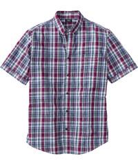 bpc bonprix collection Chemise manches courtes à carreaux Regular Fit vert homme - bonprix