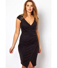 002 Dámské černé šaty zavinovací XXL