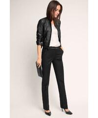 Esprit Elegantní bavlněné strečové kalhoty