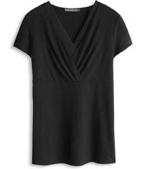 Esprit T-shirt cache-cœur en jersey