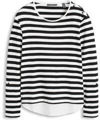 Esprit T-shirt stretch à rayures et effet superposé