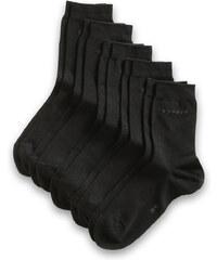 Esprit Jednobarevné ponožky, 5 párů v balení