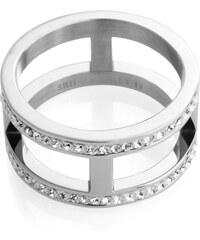 Esprit Nerezový prsten se zirkony