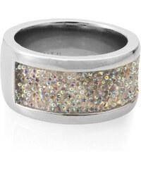Esprit Široký prstýnek s třpytivými kamínky