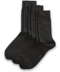 Esprit Lot de 3 paires de chaussettes unicolores