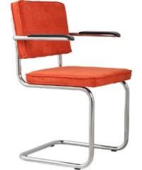 Zuiver Armchair Ridge Rib orange
